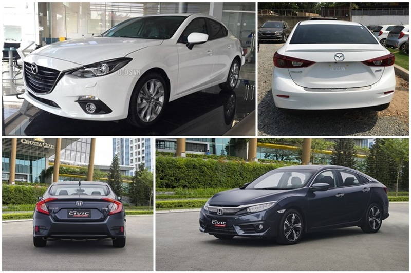So sánh Honda Civic và Mazda3 sedan